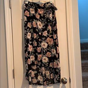 Women's high low side wrap skirt